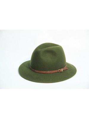 Lovski klobuk zelen usnjeni trak (ni na zalogi)