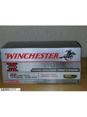 Winchester MK strelivo za risanice .22LR Super-X 2,33g