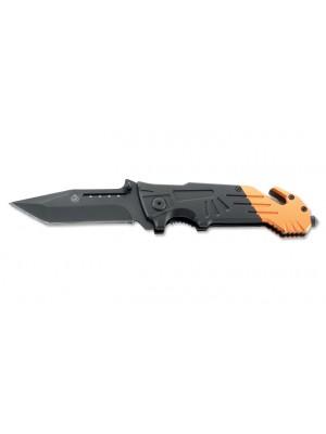 Puma taktični borilni nož črno oranžen s špico za razbijanje stekla in rezilom za varnostne pasove (ni na zalogi)