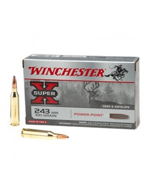 Winchester strelivo Super X Power Point 243 Win. 100 grain