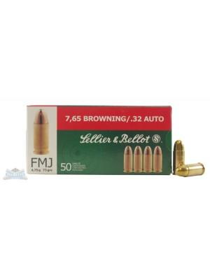 Sellier & Bellot strelivo za pištole, kal. 7,65 ali .32 Auto