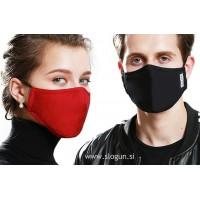 Zaščitna pralna maska v različnih barvah za večkratno uporabo - PREMIUM z žepkom za filter (vijolična, roza, črna, siva, modra) + 2 filtra GRATIS