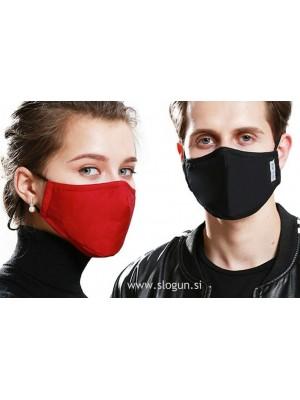 Zaščitna pralna maska v različnih barvah za večkratno uporabo - PREMIUM z žepkom za filter (roza, črna, siva, modra) + 2 filtra GRATIS
