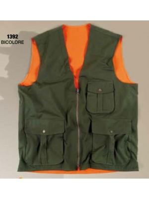 Lovski dvostranski brezrokavnik C.T.B. zeleno-oranžen