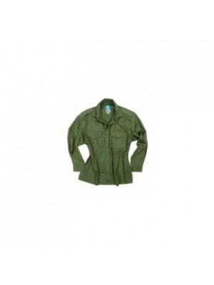 Lovska zelena srajca C.T.B. z dolgimi rokavi bombažna