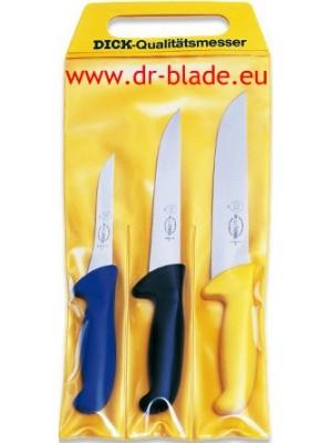Dick 3-delni set mesarskih nožev - ročaji različnih barv (82570000)