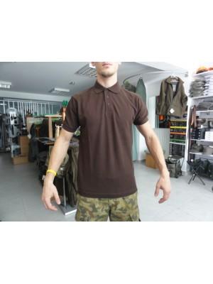Majica polo s kratkimi rokavi rjava
