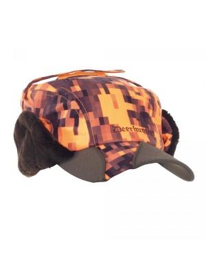 Deerhunter zimska kapa Recon oranžna s pokrivali za ušesa (vodoodbojna)