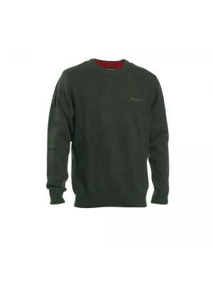 Deerhunter volneni pulover Hastings O-izrez zelen (prava volna od jagenjčka) (8840)