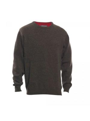 Deerhunter volneni pulover Hastings O-izrez rjav (prava volna od jagenjčka) (8840) (SAMO ŠE 3XL VELIKOST!!!)