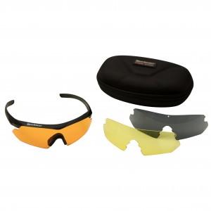 Deerhunter, model: 9200, strelska očala z menjalnimi stekli (črna, rumena in oranžna stekla) + etui