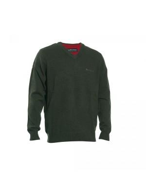 Deerhunter volneni pulover Hastings V-izrez zelen (prava volna od jagenjčka) (8841) (zadnji številki: S in 3XL)
