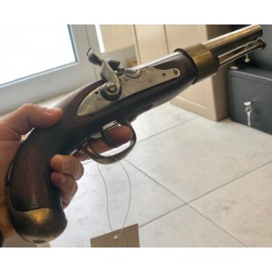 Dekorativna rabljena pištola z lesenim ogrodjem (477477)