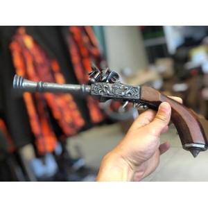 Dekorativna rabljena pištola z lesenim ročajem (677667)