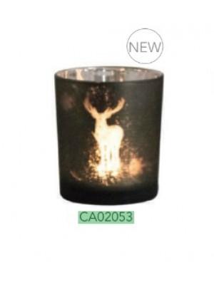 Lovergreen kozarec za svečo s silueto jelena (CA02053)
