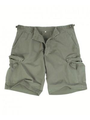 Bermuda kratke hlače bombažne zelene