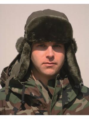 Lovska zimska kapa zelena