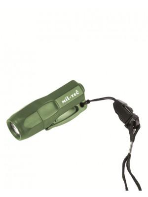 Mini reševalna svetilka led 3 zelena