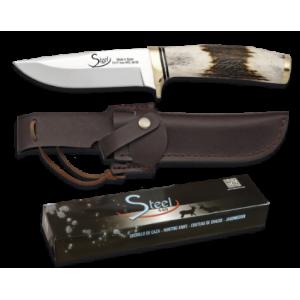 Martinez Albainox fiksni lovski nož z ročajem iz pravega roga