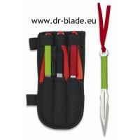 Martinez Albainox set 3 nožev za metanje zavit v parakord + etui (32409)