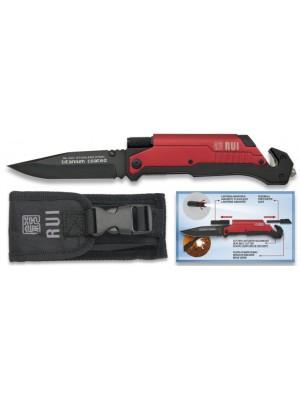 Rui reševalni preklopni nož z lučko + kresilom