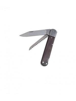 Mikov lovski preklopni nož z lesenim ročajem z 2 dodatki, model: 232-XD-2 KP + usnjeni etui