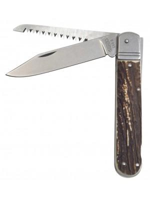 Mikov lovski preklopni nož iz imitacije roga, model: 232-XH-2KP + usnjeni etui
