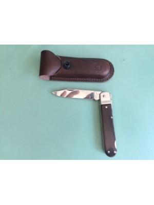 Mikov lovski preklopni nož z lesenim ročajem, model: 232-XD-1 KP + usnjeni etui