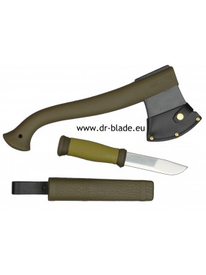 Morakniv Outdoor Kit MG (komplet sekira in nož v zeleni barvi)