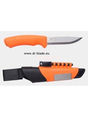 Morakniv fiksni outdoor nož, model: Bushcraft Survival Orange + diamantni brusilec + kresilo