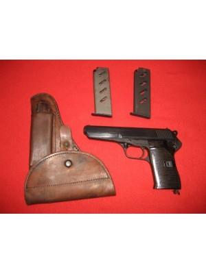CZ (Češka Zbrojovka) rabljena polavtomatska pištola, model: 52, kal.9mm Luger + cev: 7,62x25 Tok (SER.ŠT.: C08293)