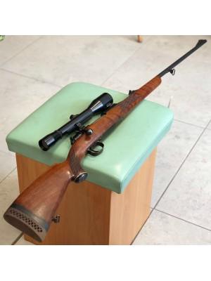 Mauser rabljena repetirna risanica, model: M98, 7mm Rem. Mag. + strelni daljnogled Hubertus 6x42 + SEM montaža