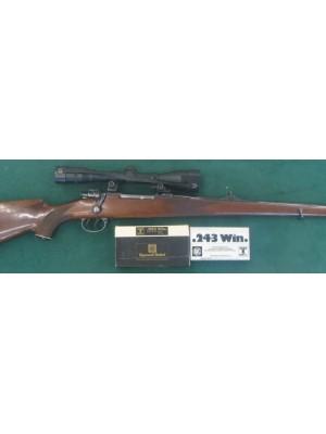 Mauser rabljena repetirna ŠTUC risanica, model: 98, kal.243 Win. + strelni daljnogled Lisenfeld 6x42