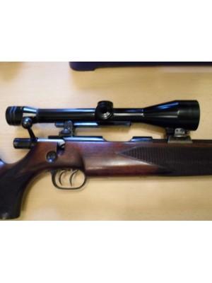 Walther rabljena enostrelna risanica, kal. 22 Hornet + strelni daljnogled Hertel in Reuss 2 3/4 -10x40