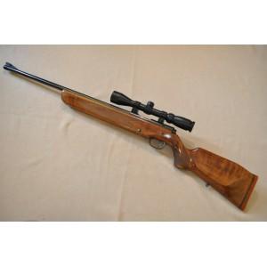PRIHAJA!!! Walther rabljena enostrelna mk risanica, kal. 22 LR + montaža + strelni variabilni daljnogled Hubertus 3-9x40