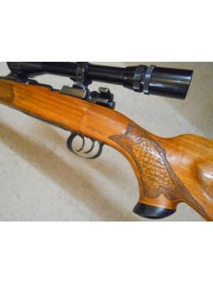 Mauser rabljena repetirna risanica, model: 98, kal. 243 Win. + strelni variabilni daljnogled Hubertus 3-9x40 (šifra slogun: 005905)