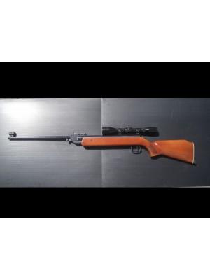 Anschutz rabljena zračna puška, model: 335, kal. 4,5 mm + montaža + strel.daljn. Nickel 4-10x40