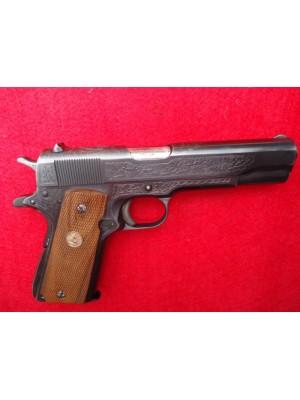 Remington rabljena polavtomatska pištola, model: 1911 A1, kal. 45 ACP (US PROPERTY iz leta 1943 z gravurami)