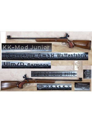 Anschutz rabljena mk ENOSTRELNA risanica, model: Junior, kal. 22 LR (šifra slogun: 006387)