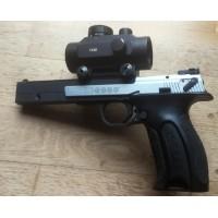 PRIHAJA!!! Hammerli rabljena tekmovalna mk pištola, model: X-esse, kal. 22 LR + rdeča pika (šifra slogun: 74)