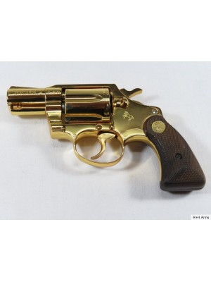 """Colt rabljeni pozlačeni revolver, model: Detective Special, kal. .38 spec. z 2"""" cevjo"""
