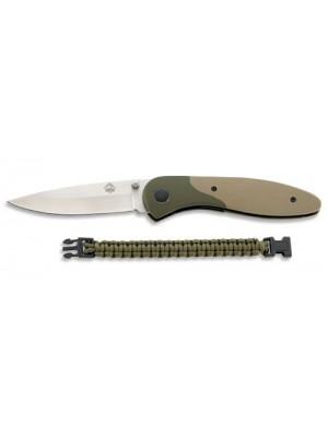 Puma outdoor tactical nož s parakord zeleno zapestnico
