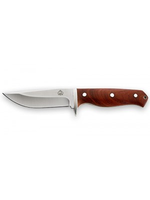 Puma fiksni nož z lesenim ročajem + usnjeni etui
