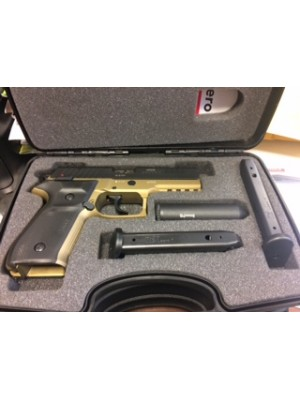REX polavtomatska pištola, model: Zero 1 Standard duotone, kal.9x19 (črno-zlata barva)