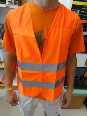 Oranžno fluoroscentni brezrokavnik (ena velikost)