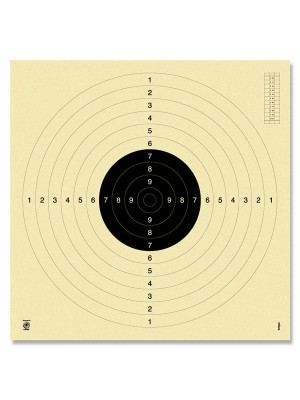 Tarče za pištolo 25/50m + MK 100m, 55x53cm (250)