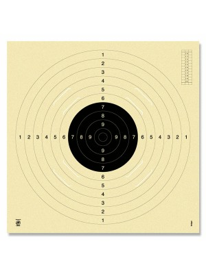 Tarče za pištolo 25/50m + MK 100m, 55x53cm, num. + zamenljivi krog (250)