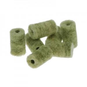 Čistilni čepki iz filca (merino volne) z dodatki medeninastih vlaken, Intensive zeleni kal. 22 (za malokalibrsko orožje)