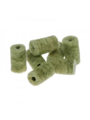 Čistilni čepki iz filca (merino volne) z dodatki medeninastih vlaken, Intensive zeleni kal. 7mm