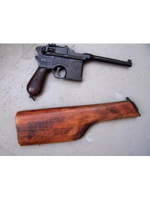 Mauser C96 rabljena dekorativna pištola z dodatnim lesenim kopitom